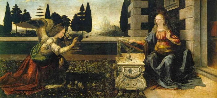 anunciation leonardo da vinci